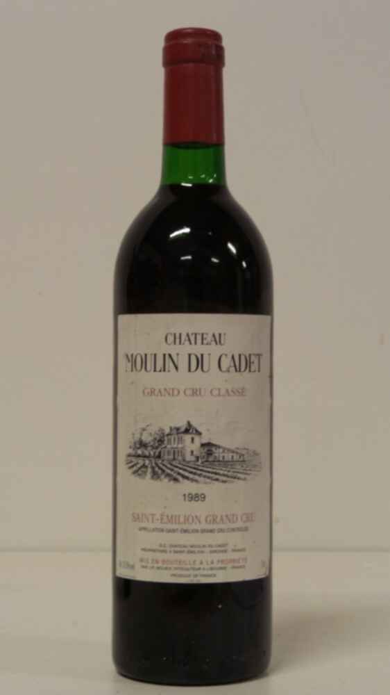 Chateau Moulin Du Cadet 1989