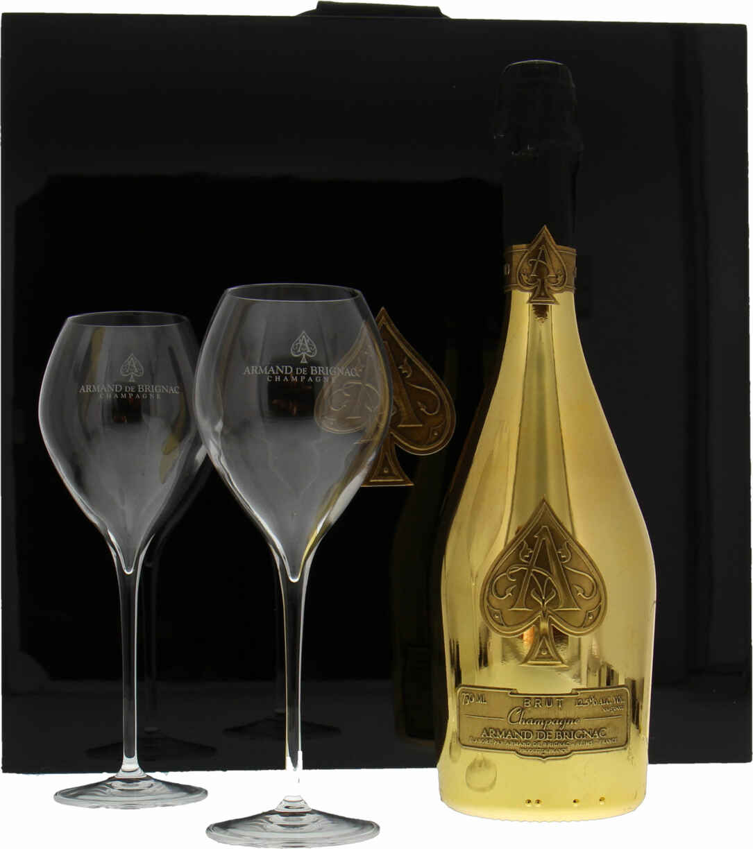 Armand De Brignac Gold Brut Luxury Coffret With 2 Glasses