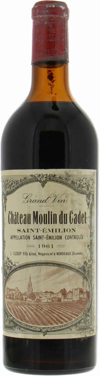 Chateau Moulin Du Cadet 1961