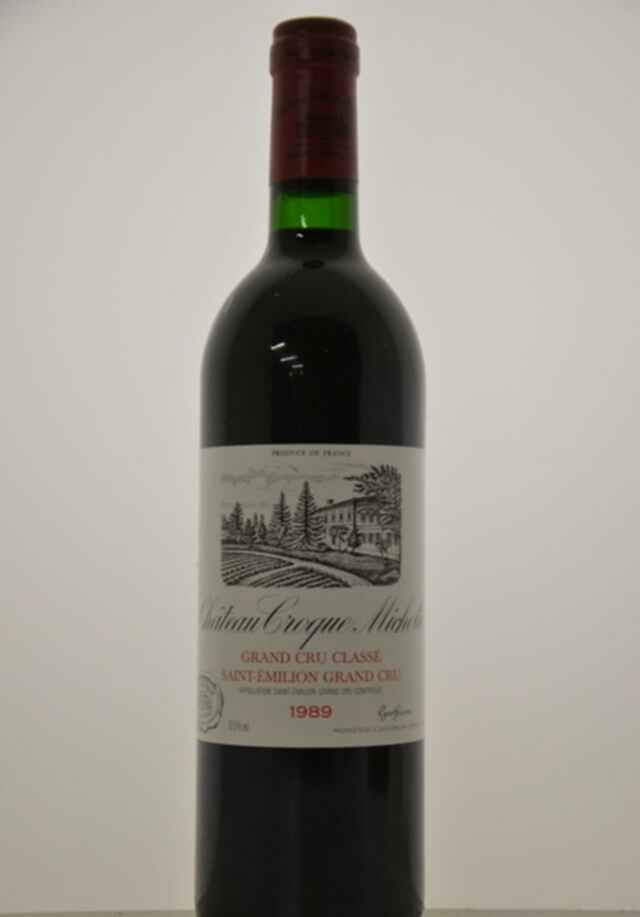 Chateau Croque Michotte 1989