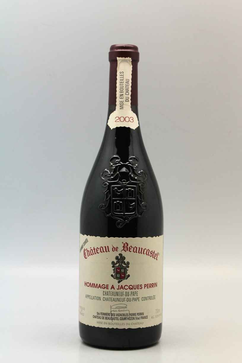 Beaucastel Chateauneuf Du Pape  Hommage A Jacques Perrin 2003